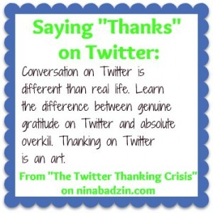 How to Say Thank You (or Not) on Twitter