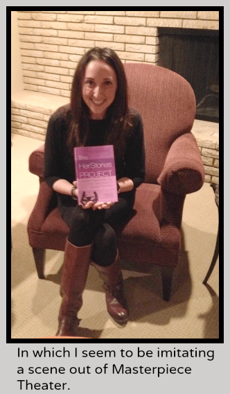 Nina Badzin with The Herstories Project Book